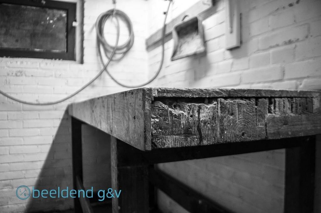 Werkbank in de kelder