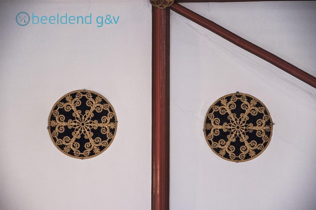 Detail van het plafond