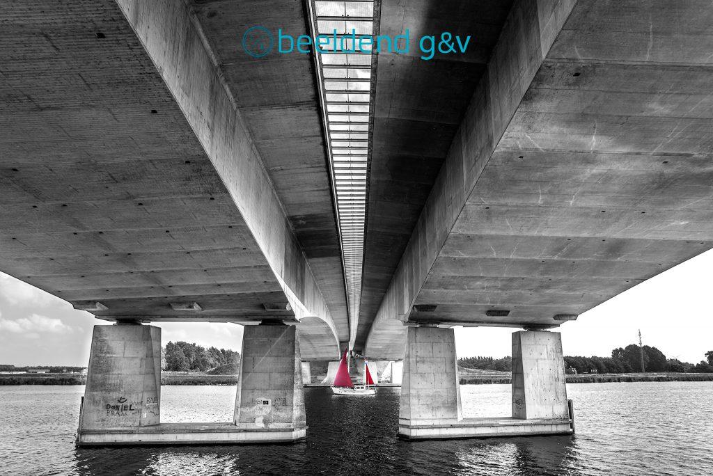 Drieluikbrug brug A27 Blaricum