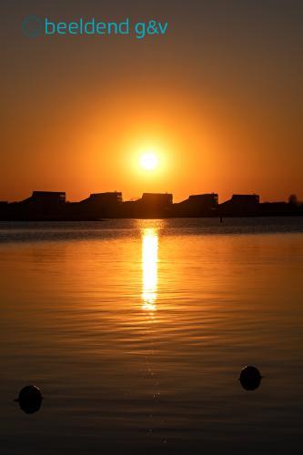 Zonsondergang op het Blaricummer Strand